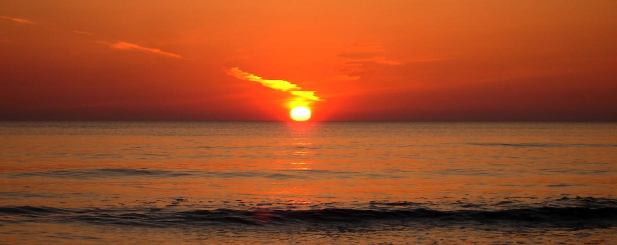 Das Gold in den Sonnenstrahlen vom Fischland-Darß-Zingst