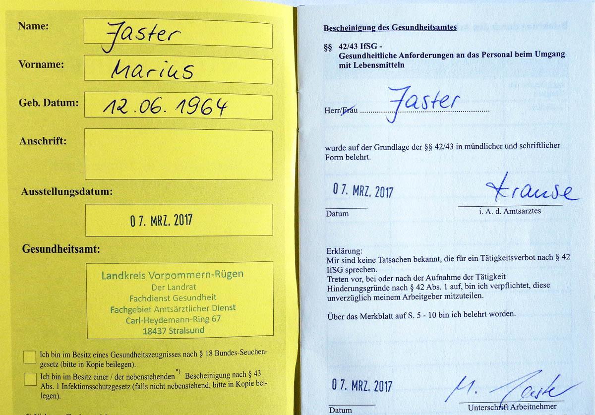 Einmal poppen in Polen, richtig teuer natürlich, weil: ungeschützt… und dann in Deutschland den Gesundheitspass geholt…